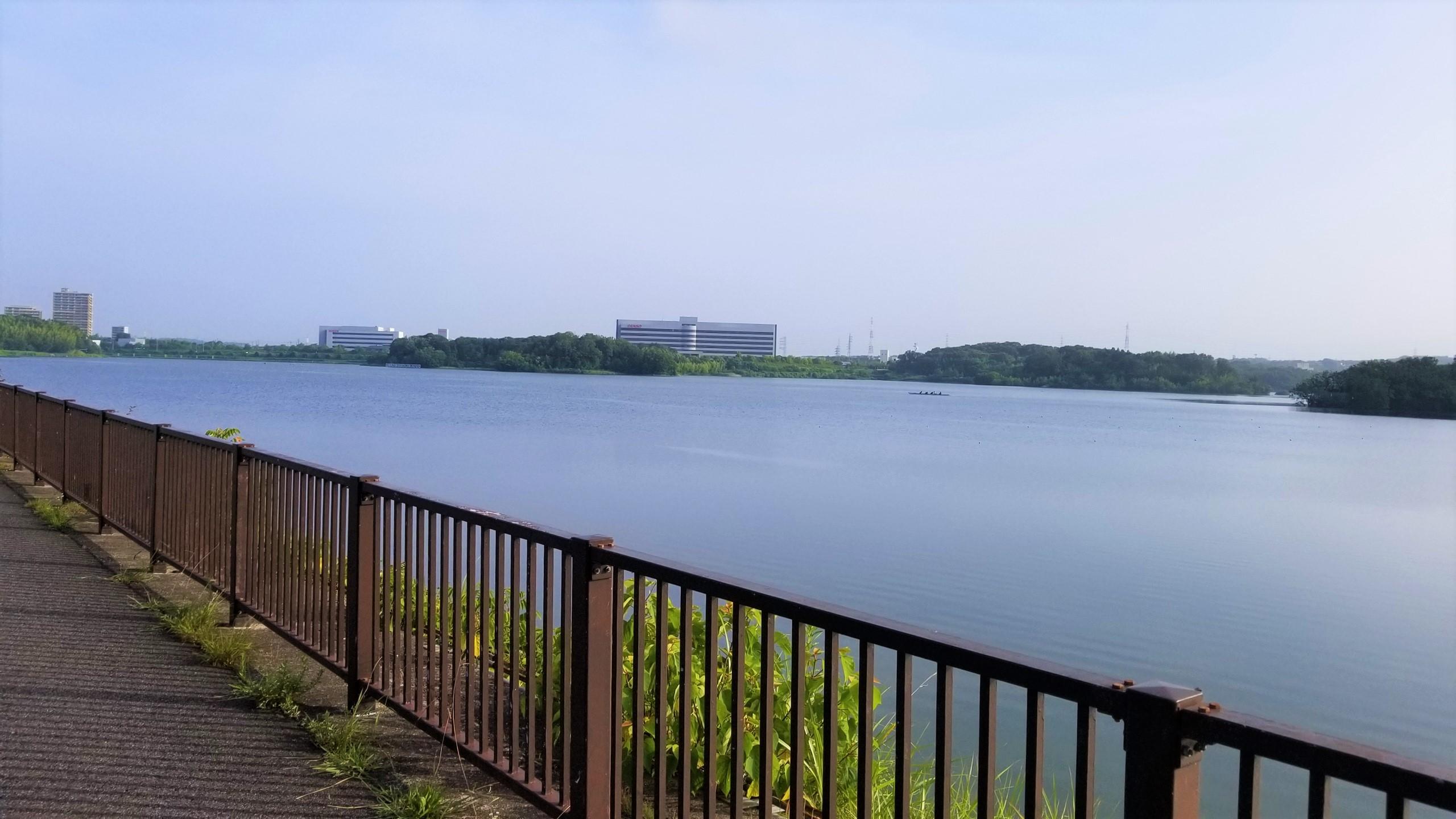 愛知池 のサイクリング